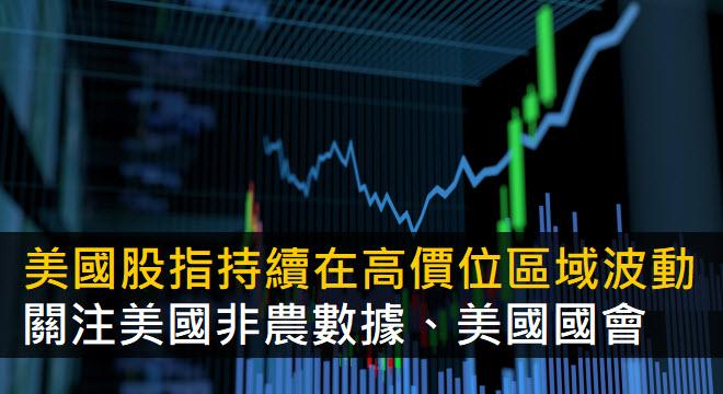 美國股指持續在高價位區域波動  關注美國非農數據、美國國會