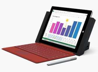 微軟Surface 3平板閃電亮相!史上最輕薄、價格不貴